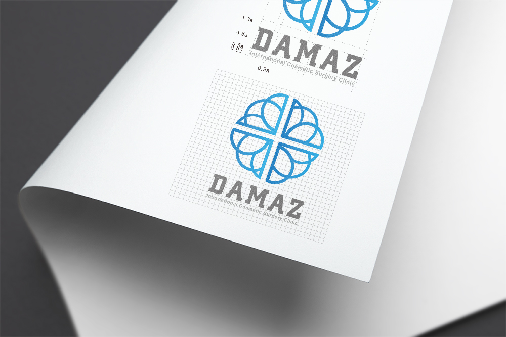 大瑪士醫美logo品牌形象設計