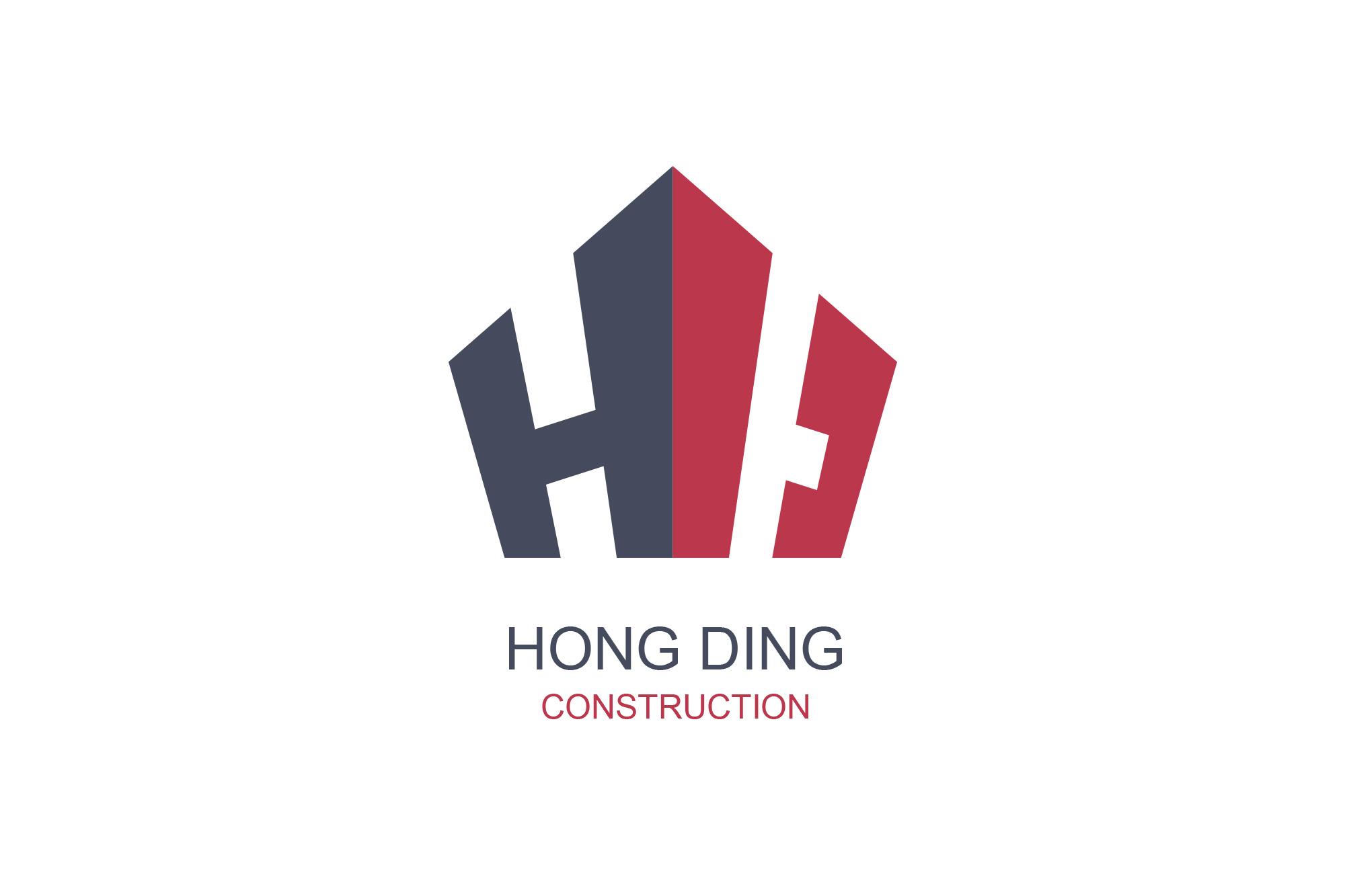 泓鼎建設logo形象設計