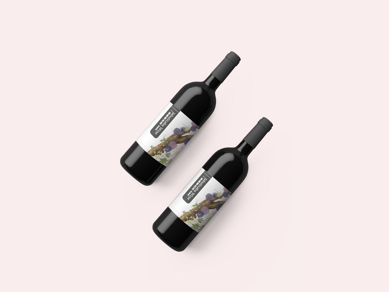 樹葡萄酒標設計